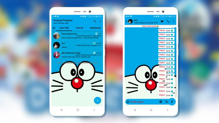 Download Tema Whatsapp Doraemon Apk Versi Terbaru 2019