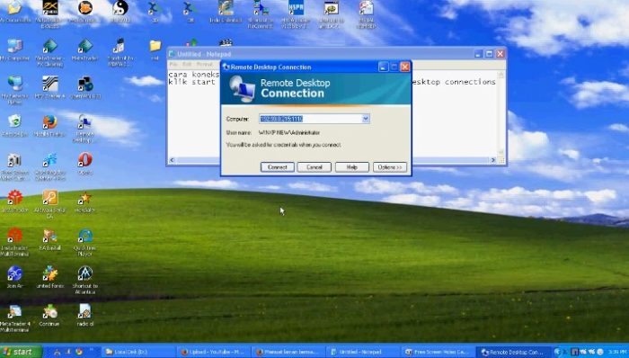 A. Setting VPS pada Windows XP