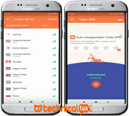 ScreenShot In Aplication Turbo VPN Apk