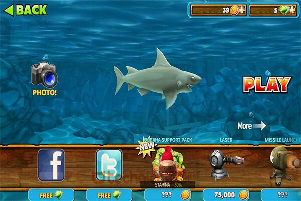 Fitur Game Hungry Shark Evolution