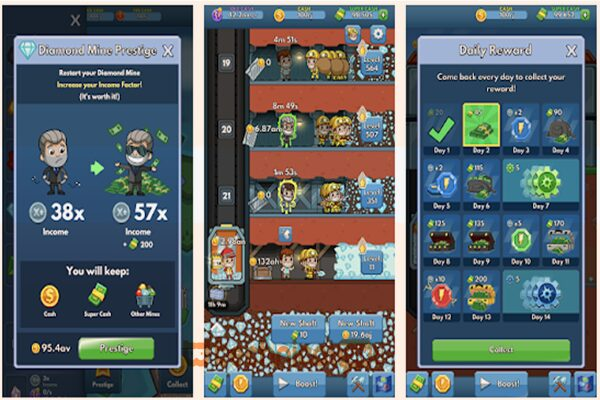 Gameplay Idle Miner Tycoon