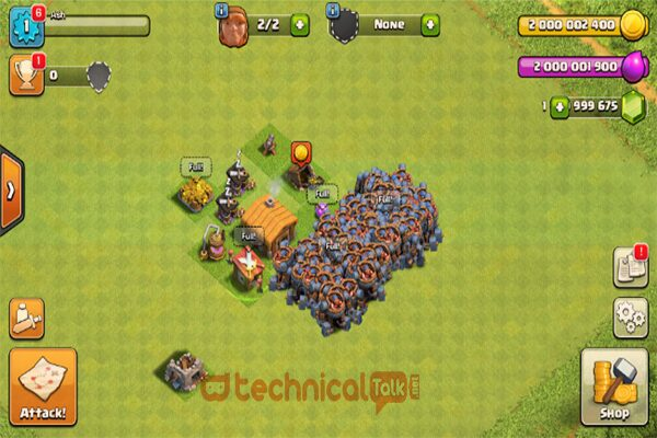Bangun Clash of the Clan Mod Apk