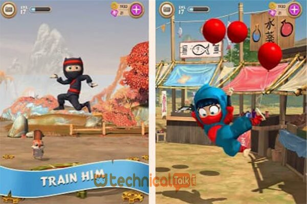 Fitur Clumsy Ninja Game