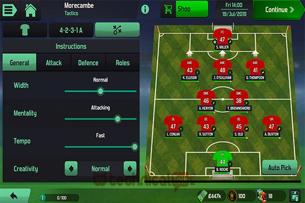 Fitur Utama di Football Manager Mobile Mod Apk
