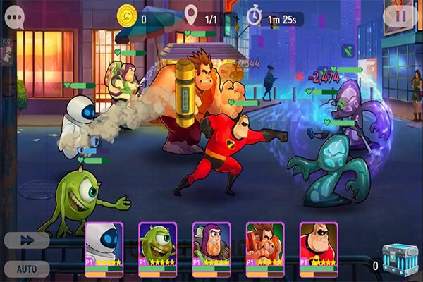 Gameplay Disney Heroes Battle Mode Mod Apk