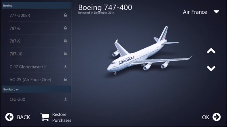 2. Choose Your Airplanes Type